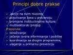 principi dobre prakse