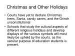 christmas and other holidays