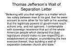 thomas jefferson s wall of separation letter