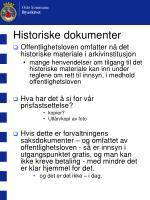 historiske dokumenter