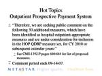 hot topics outpatient prospective payment system3