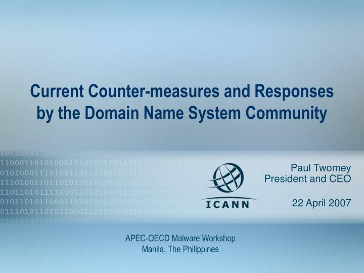 current counter measures and responses by the domain name system community n.