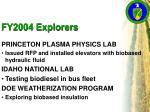 fy2004 explorers