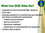 what can doe sites do