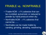 friable vs nonfriable