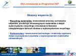 eko innowacje w programie eip1