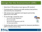 design for the environment dfe