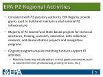 epa p2 regional activities