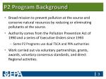 p2 program background