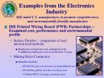 examples from the electronics industry