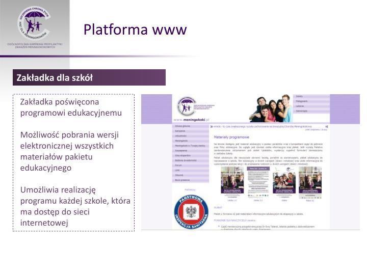 Platforma www