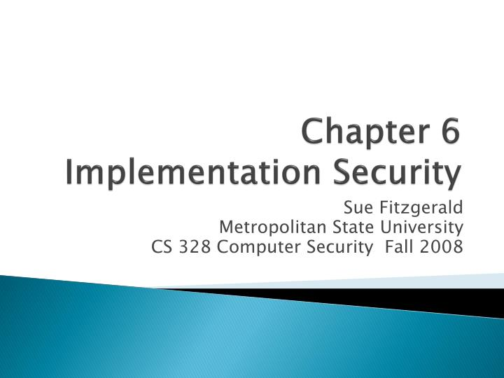 chapter 6 implementation security n.