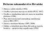 dr avno zakonodavstvo hrvatske