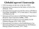 globalni ugovori i konvencije