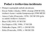 podaci o tro kovima incidenata
