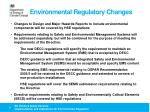 environmental regulatory changes1