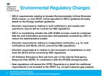 environmental regulatory changes2