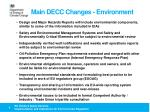 main decc changes environment