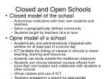 closed and open schools