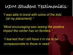 udm student testimonials