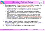 bonding failure rates