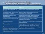 for product consumers and users the impacts and rationale of hssp specifications