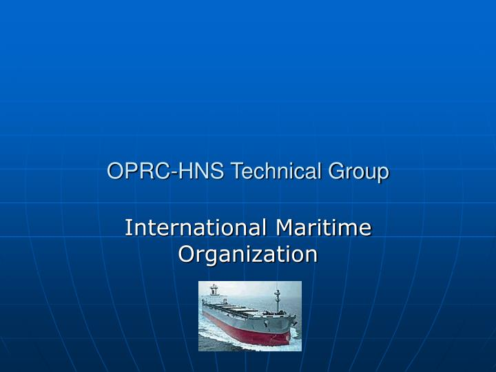 oprc hns technical group n.