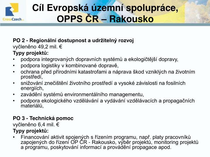 Cíl Evropská územní spolupráce,
