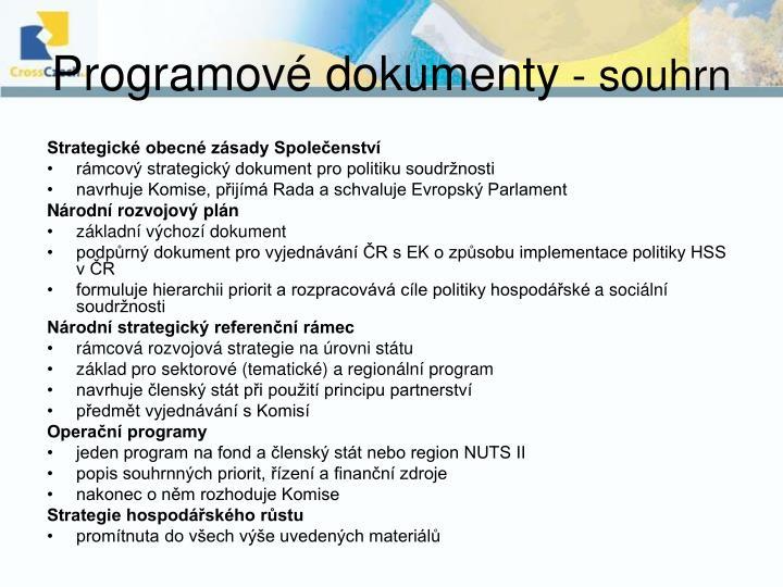 Programové dokumenty