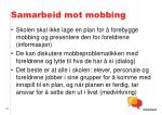 samarbeid mot mobbing