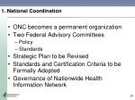1 national coordination