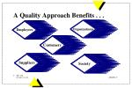 a quality approach benefits