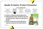 quality evolution product orientation