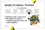 quality evolution wartime