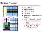 merrimac processor