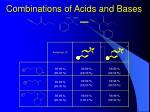 combinations of acids and bases