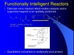 functionally intelligent reactors
