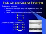 scale out and catalyst screening