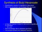 synthesis of butyl hexanoate