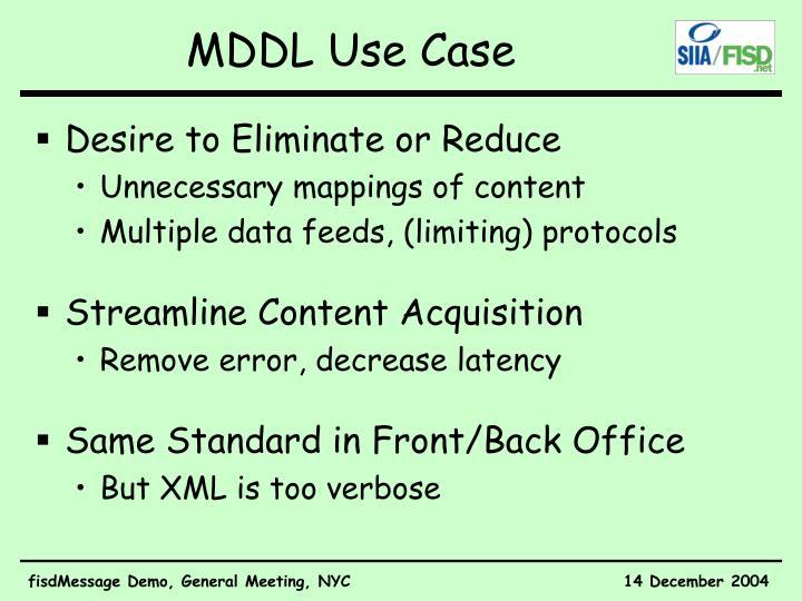 Mddl use case