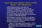 major differences between unos optn bylaws opo membership