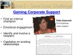 gaining corporate support