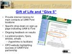 gift of life and give 5