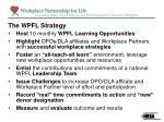 the wpfl strategy