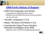 uaw ford s history of support