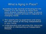 what is aging in place