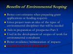 benefits of environmental scoping