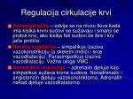 regulacija cirkulacije krvi