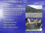 itopf objectives