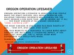 oregon operation lifesaver